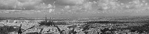Zwart wit panorama Parijs