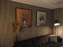 Kundenfoto: Blumen in meinem Kopf (Nr.2020-06) von Kris Stuurop, auf leinwand