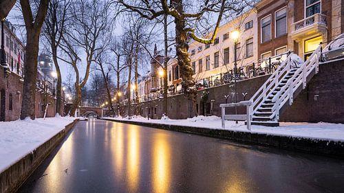 Winter aan de Utrechtse Nieuwegracht