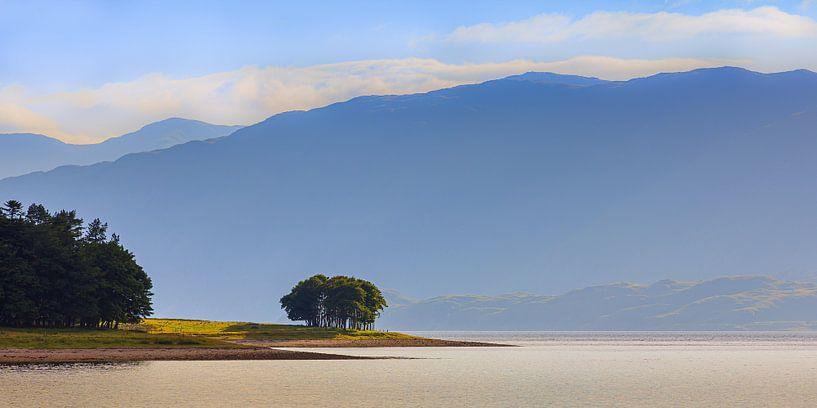 Avondlicht over Loch Linnhe, Schotland van Henk Meijer Photography