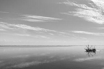 Kotter aan het vissen van Paul Veen