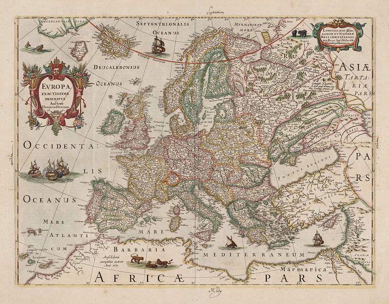 Europa Exactissime Descripta von Rebel Ontwerp