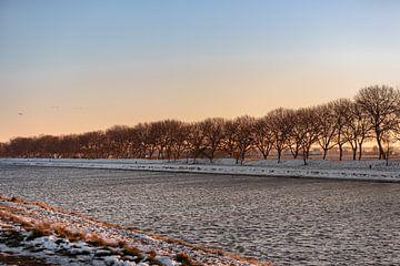 Walcheren-Kanal im Winter von Percy's fotografie