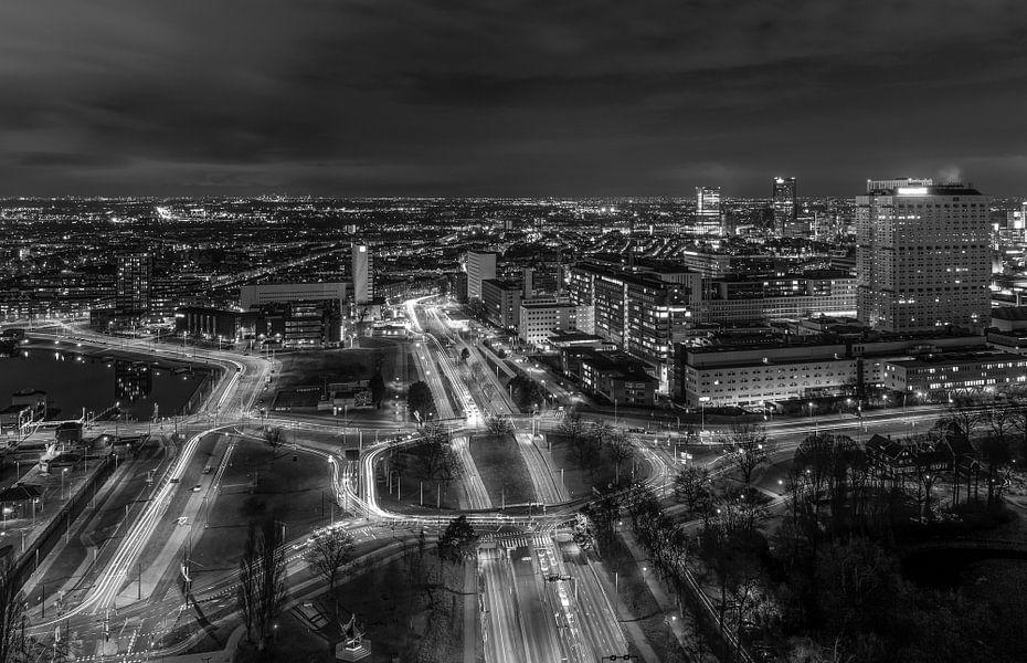 Het stadsgezicht vanuit de Euromast