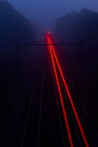 Lichtsporen door de nacht van Jenco van Zalk