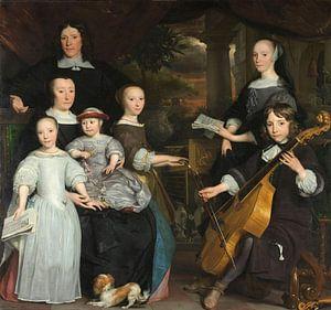 David Leeuw met zijn gezin, Abraham van den Tempel