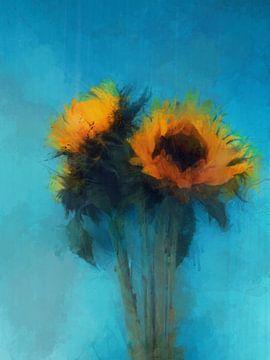 Zonnebloemen 2 von Yolanda Bruggeman