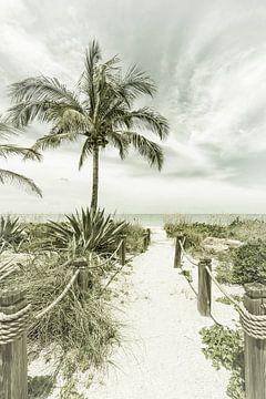 Weg naar het strand | Vintage van Melanie Viola
