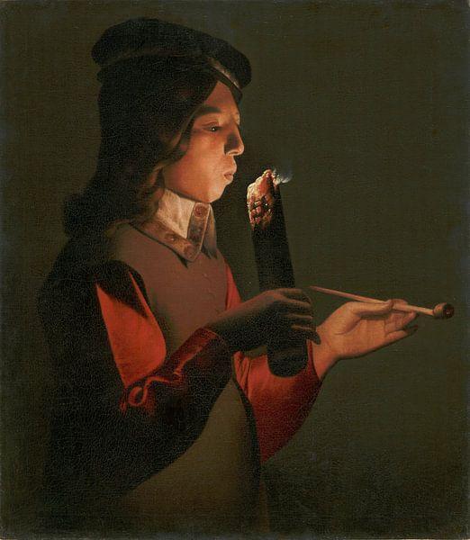 Raucher, Georges de La Tour von Meesterlijcke Meesters