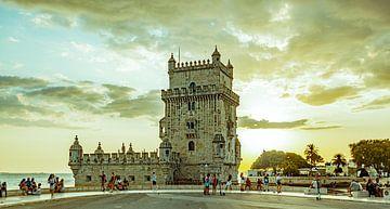 Turm von Belem (Sonnenuntergang) von Stewart Leiwakabessy