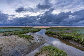 Slufter Texel Zonsondergang van Texel360Fotografie Richard Heerschap