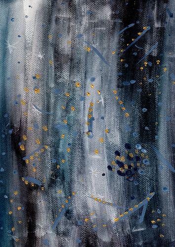 Abstract Watercolor Galaxy Painting van