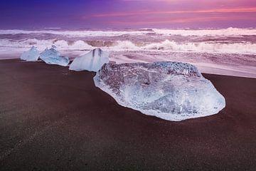 ILE Morceaux de glace sur la côte sur Melanie Viola