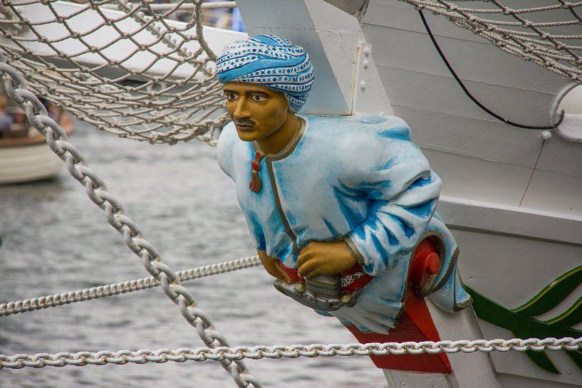 Boegbeeld van een Tall Ship van Ed de Cock