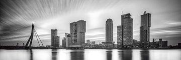 Skyline de Rotterdam avec la tête du sud sur