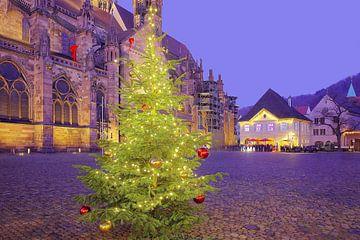 Kerstmarktplaats Freiburg van Patrick Lohmüller