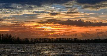 Sunset Vlietlanden van Niklas Lorenson