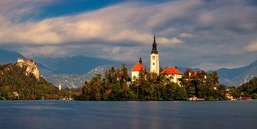 Meer van Bled in Slovenië van Adelheid Smitt