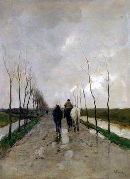 Eine holländische Straße, Anton Mauve