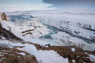 Gullfoss Waterval, IJsland, Europa van Alexander Ludwig