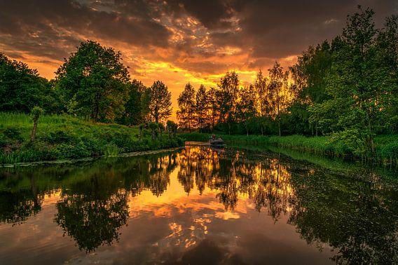 perfecte zonsondergang van Robin Pics (verliefd op Utrecht)