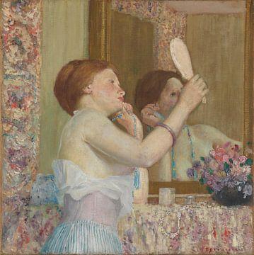 Frau mit Spiegel, Frederick Carl Frieseke