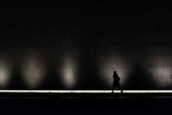 Vrouw voor het licht