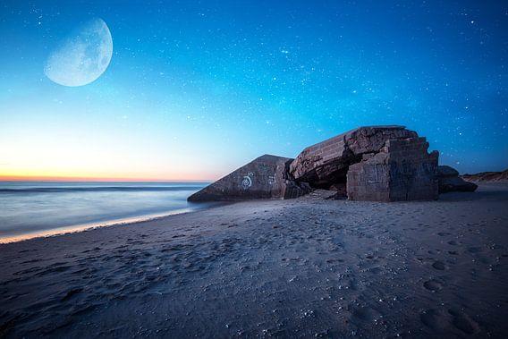 bunker met sterrenhemel