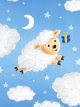 zoete wolk schapen van Stefan Lohr