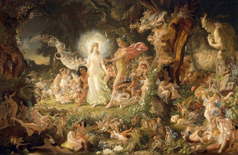 Der Streit zwischen Oberon und Titania, Joseph Noel Paton von Meesterlijcke Meesters