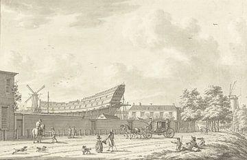 Die Schiffswerft in Rotterdam, Jan Bulthuis, 1790