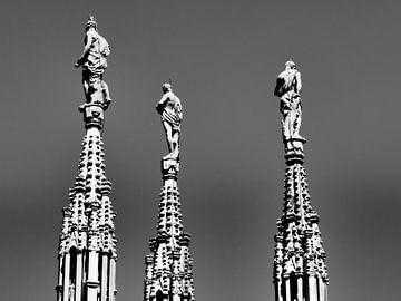 Piazza de Duomo Milaan van Gaby  van der Peijl