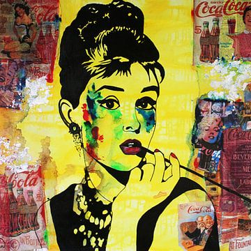 """Audrey Hepburn """"Soda"""" von Kathleen Artist Fine Art"""