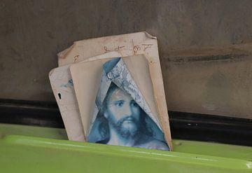Jezus als mascotte van Jan Katuin
