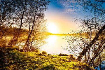 Zonsopgang bij het meer van Günter Albers