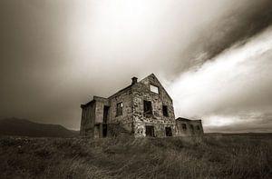 Verlassen Ort im Island