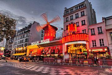 Moulin Rouge Cabaret in Montmarte, Parijs van Robert Heinst