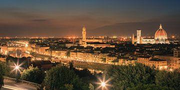 Florence gezien vanuit Piazzale Michelangelo van Henk Meijer Photography