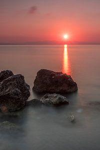 Ochtend licht op het eiland Zakynthos van