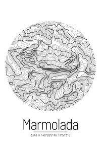 Marmolata | Topographie de la carte (minimum)