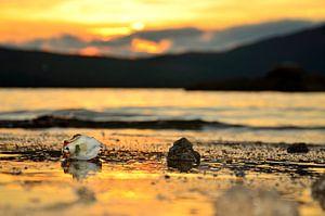 Sundown at Whale Island van Jack Koning