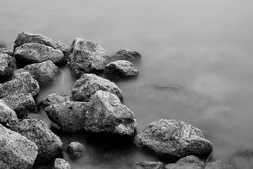 Die Steine schwarz, weiß von Wendy Tellier - Vastenhouw