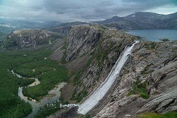 Mooiste waterval Noorwegen. van Axel Weidner