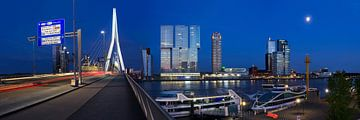 Kop van Zuid, Rotterdam bij nacht von Vincent van Kooten