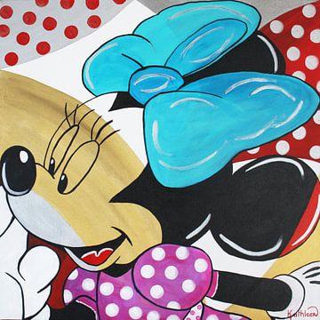 "Minnie Mouse ""Goud"" van Kathleen Artist Fine Art"