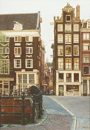 Schilderij: Singel-Lijnbaans Steeg, Amsterdam van