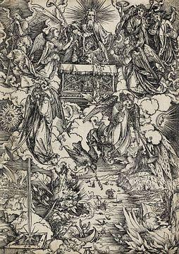 ALBERT DÜRER, Apokalypse, 6. Figur - Die sieben Posaunenengel, 1496