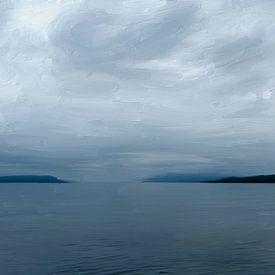 Zeegezicht Schotland van Frans Jonker