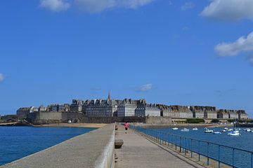 Ansicht von St. Malo, Frankreich, Bretagne von Bernard van Zwol