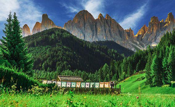 Was ophangen tussen de bergen van de Dolomieten